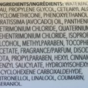ingredients of a skin care product showing many toxic ingredents