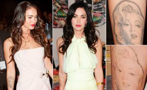 celebrity tattoo removal of Megan Fox